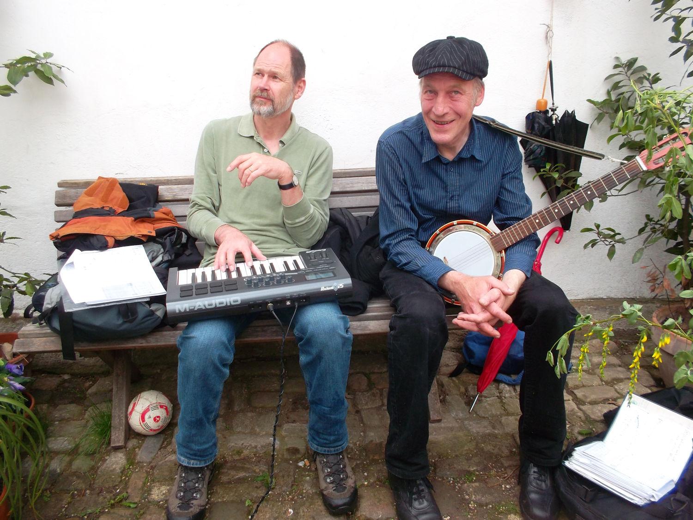 Himmelfahrt Dirk und Steffen auf dem Naumburger Markt